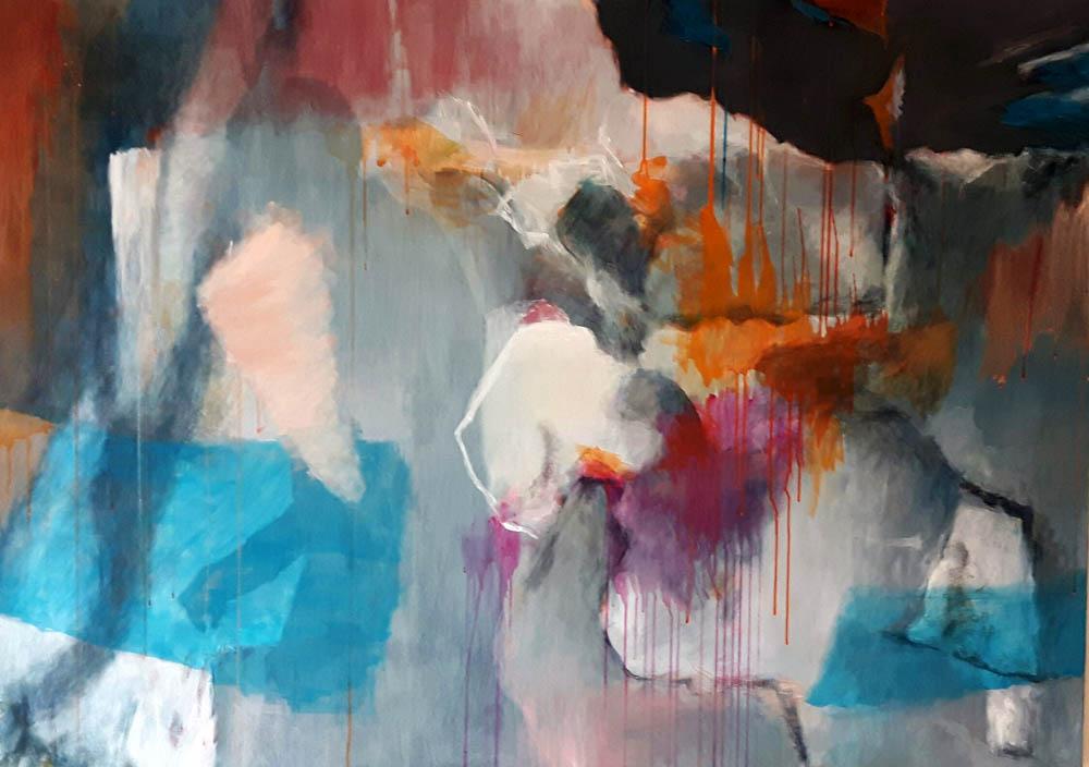 Mo Kilders - Abstrakte Komposition Grau