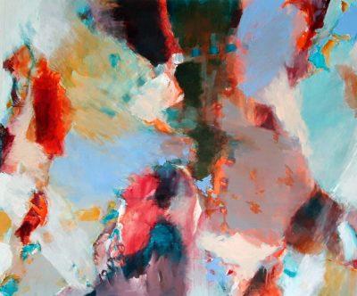 Mo Kilders - Abstrakte Komposition Rot-Blau