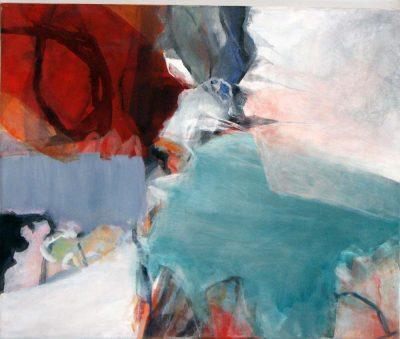 Mo Kilders - Abstrakte Komposition Rot-Türkis