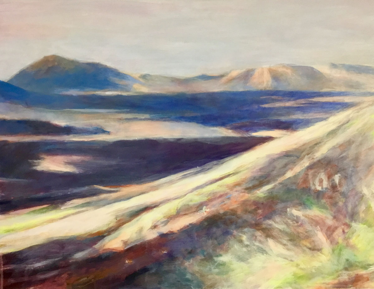 Mo Kilders Landschaft auf Lanzarote I 50x70cm 2019