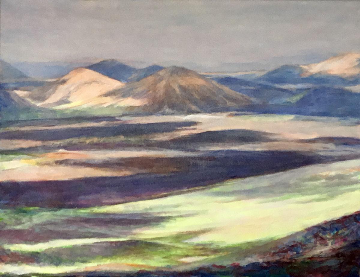 Mo Kilders Landschaft auf Lanzarote II 50x65cm 2019