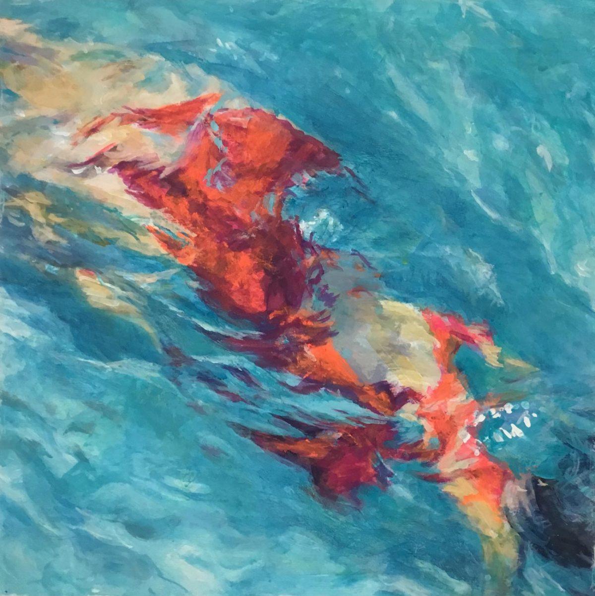 Schwimmerin XIX von Mo Kilders