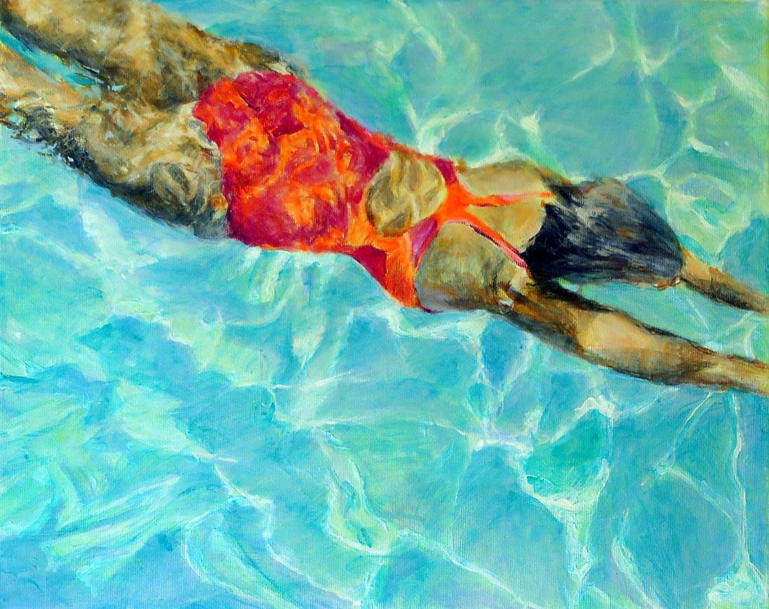 Mo Kilders Schwimmerin XVIII