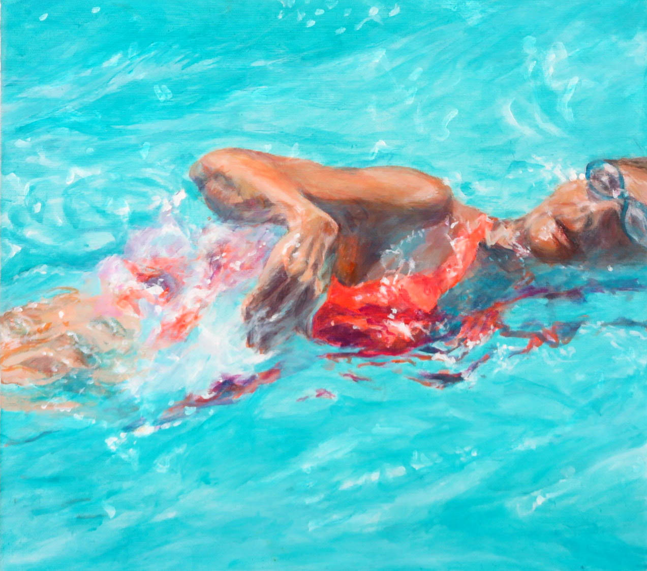 Schwimmerin Lanzarote III