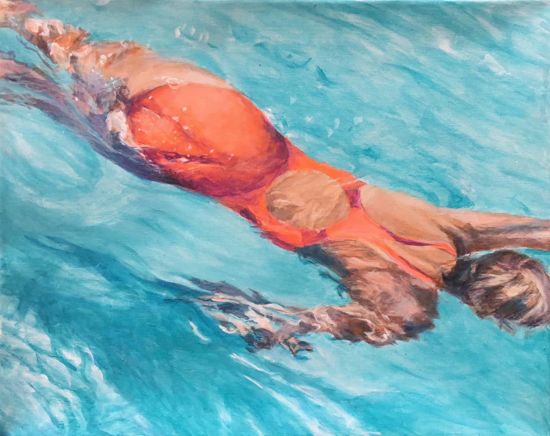 Schwimmerin Lanzarote IV